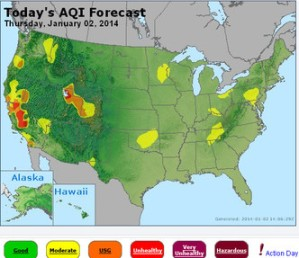 Utah's air quality Thursday among worst in nation, EPA map shows