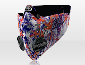 Respro® Skins™ pollution mask - LEAVES Pattern 3 #matchyourstyle